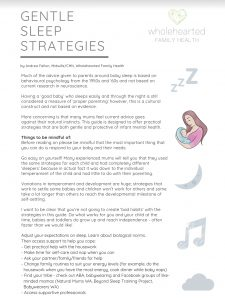 gentle sleep strategies