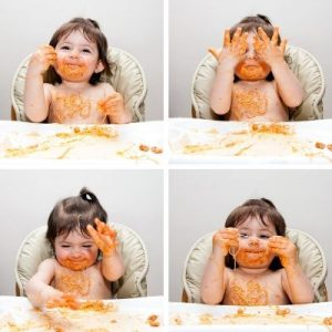 messy play ideas, starting solids